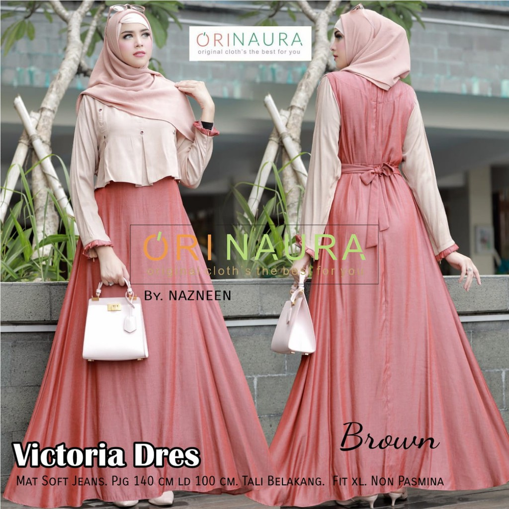 Po Indonesia Items Muslimah Fashion Sg Kemeja Row Hitam Shop At Velvet Preorder Victoria Dress